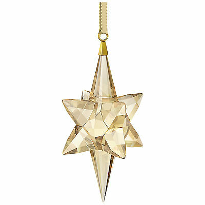 Swarovski Star Ornament Large Gold Tone # 5301220 Crystal New in Original Box