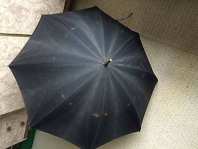 Vintage Paragon Fox Umbrella, Bamboo Handle/shaft, Brass Fittings,wooden Tassles