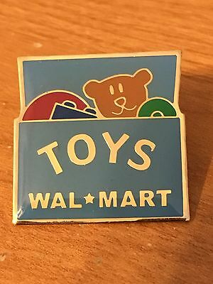 Rare Walmart Lapel Pin Department Toys Teddy Bear Box  Wal-mart Pinback