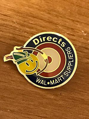 Rare Walmart Lapel Pin Directs Suppliers DSD Smiley  Wal-mart Pinback