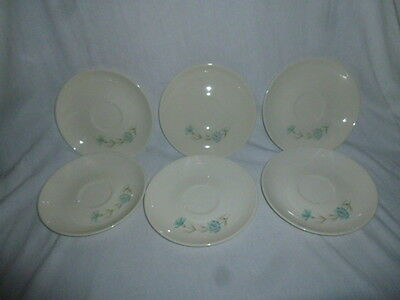 """Lot of 6 ~ Taylor Smith Taylor Ever Yours Boutonniere Saucers 6-1/2"""""""