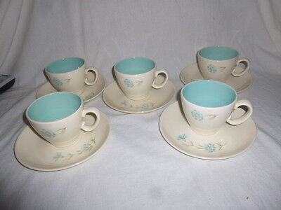 Lot of 5 ~ Taylor Smith Taylor Ever Yours Boutonniere Coffee Tea Cups & Saucers