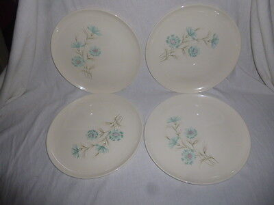 """Lot of 4 ~ Taylor Smith Taylor Ever Yours Boutonniere Dinner Plates 10-1/4"""""""