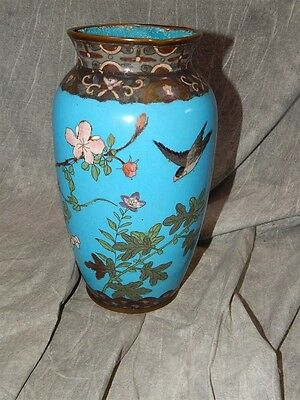 Very OLD!!! Japanese Cloisonne vase LARGE 10.5""