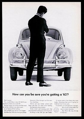 1962 VW Volkswagen Beetle classic car photo How Can You be Sure? 11x8 print ad