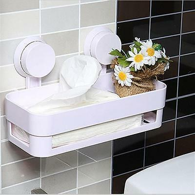 Bathroom Storage Holder Shelf Shower Caddy Tool Organizer Rack Basket Sucker Cup