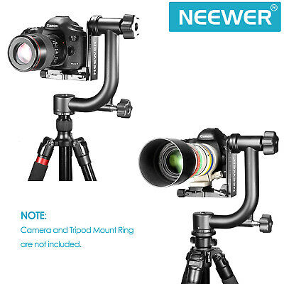 "Neewer Camera Gimbal Tripod Head with 1/4"" Thread Arca-Swiss Quick Release Plate"