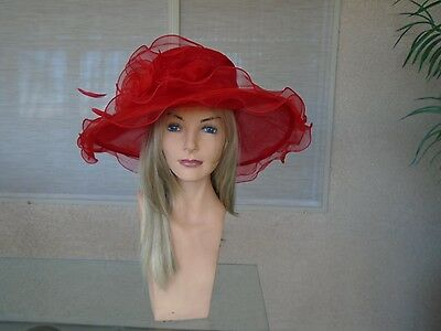 Red Kentucky derby hat