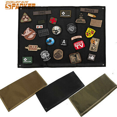 1X 1000D Tactical Paintball Wall Hanging Badges Patch Collecting Mat Folding Pad