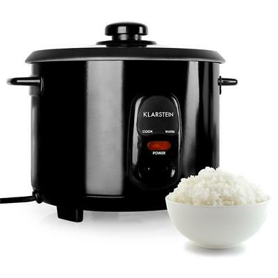 Black Electric Rice Cooker 500W 1.5L 8 Cup No Stick Cooking Stainless Steel