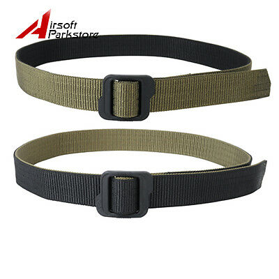 Tactical Hunting Combat Double-sided Nylon Duty Belt for Pants Black & OliveDrab