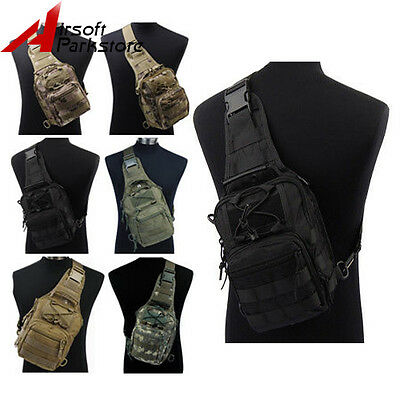 1000D Tactical Military Hunting Molle 3 Ways Shoulder Sling Bag Chest Pouch Pack
