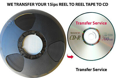 15ips Reel to Reel Magnetic Audio Tape Transferred to CD ~ Transfer Copy Service