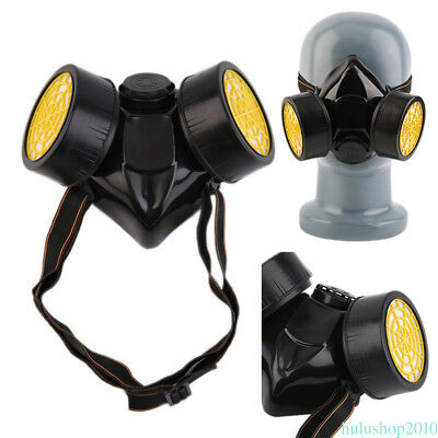 PVC mask Emergency Survival Safe Respiratory Gas Mask Dual Protection Filter WL9