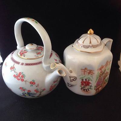 Compton & Woodhouse 'The First Teapots' early replicas x 2 : Japanese & Indian