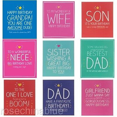 Happy Jackson Greeting Card Birthday Relatives Dad Son Mum Daughter