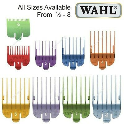 Wahl Hair Clipper Comb COLOURED All Sizes Available 0.5 ½ 1 2  3 4 5 6 7 8