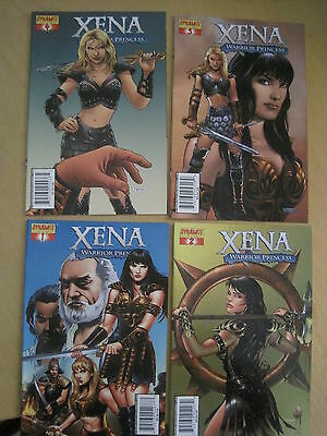 XENA , WARRIOR PRINCESS : COMPLETE 4 ISSUE 2006 DYNAMITE SERIES by LAYMAN, NEVES