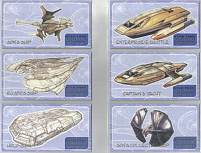 Star Trek Insurrection Set Of Nine Schematics Cards