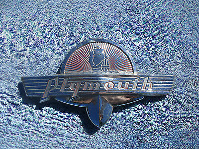 1941 Plymouth Deluxe Trunk Emblem