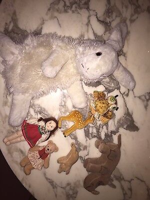 Steiff lot of 3 various animals - deer & pig sold + not included