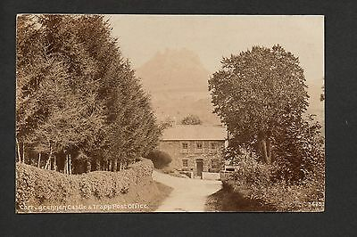 Carregcennen Castle & Trapp Post Office - real photographic postcard