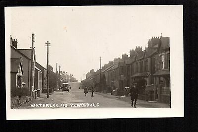 Penygroes - Waterloo Road - real photographic postcard
