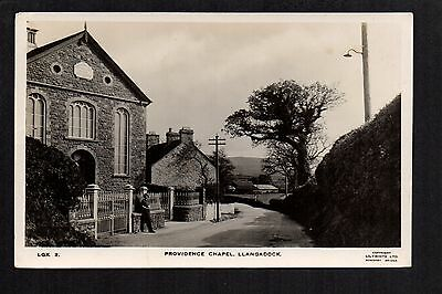 Llangadock - Providence Chapel - real photographic postcard