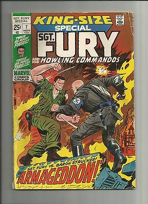 MARVEL COMIC Sgt Fury and His Howling Commandos King Size Special Annual #7 VG