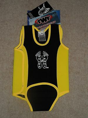 The Wetsuit Factory New Yellow Bee Boys Girls Swimming Baby Warmer 12-18 Months
