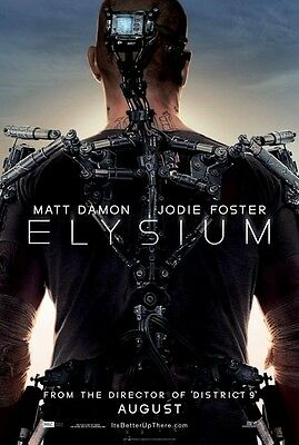 Elysium - original DS movie poster - D/S 27x40 Matt Damon -  Adv