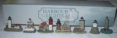 Harbour Lights Spyglass New England Series Boxed Set Of 7 W/coa  #607 1997 Small