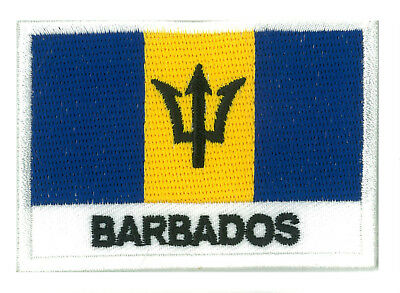 patch embroidered badge patch flag Barbados 70/45 mm