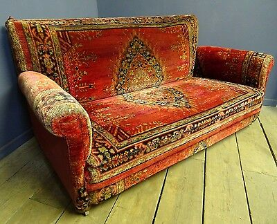 Victorian Carpet Sofa, Antique, Persian