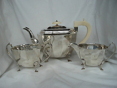 Art Deco Tea Service Sterling Silver Sheffield 1939
