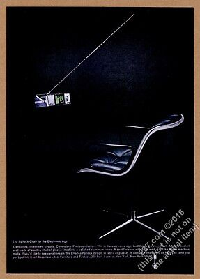 1967 Charles Pollock black chair photo Knoll Associates furniture vintage ad