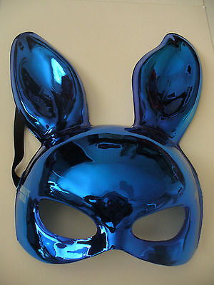 Absolute Vodka Moscow Mule Carnival Party Favor Mask Shiny Blue w/ Strap-NEW
