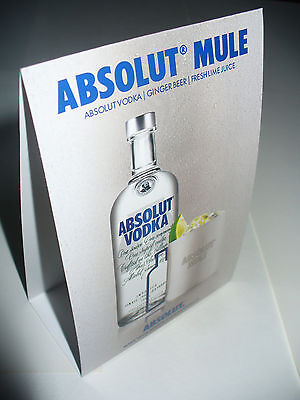 Absolut Mule Vodka Table Tents -Package of 25 -Citron, Mandrin, Apeach Mules-New