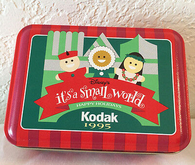 "Kodak 1995 - Disney's ""it's A Small World"" Happy Holidays Tin"