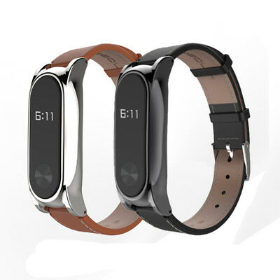 Replacement Genuine Leather Band Strap Bracelet For Xiaomi Mi Band 2 Smartband