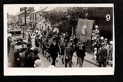 Buckley Jubilee - Emmanuel Church Bistre,  Procession - real photographic p/c.