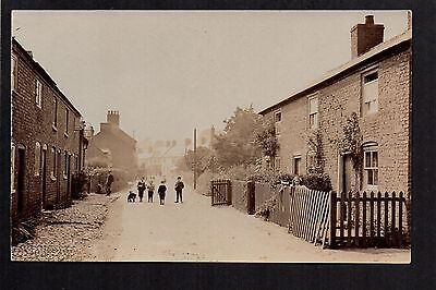 Overton - Turning Street - real photographic postcard