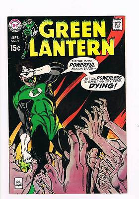 Green Lantern # 71 The City That Died ! grade 8.0 scarce book !!
