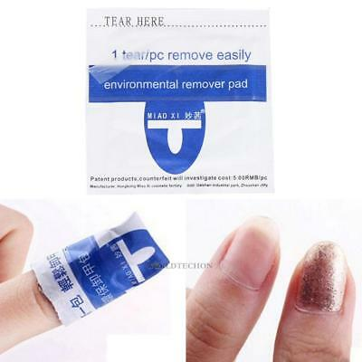 200pc Remover Wraps For UV Gel Polish Acetone Pad Foil Nail Art Cleaner Removal
