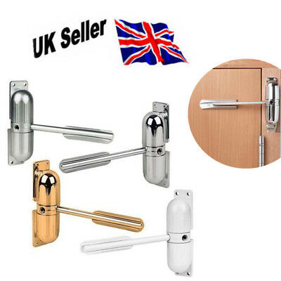 Adjustable Surface Mounted DOOR CLOSER Fire Rated Auto Closing Spring Tension UK