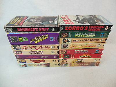 Lot of 15 WESTERNS  VHS Videos - Rope 'em while ya can!