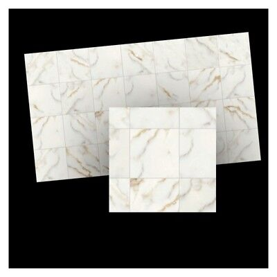 1/12th scale miniature dollhouse World&Model faux marble floor tiles 34723