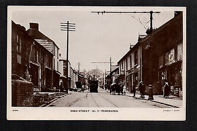 Penydaren - High Street - real photographic postcard