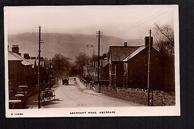 Aberdare - Abernant Road - real photographic postcard