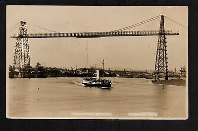 Newport Transporter - real photographic postcard